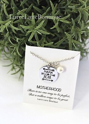 Mama bear necklace-Gift for Mom-Mothers day necklace- Mothers day gift