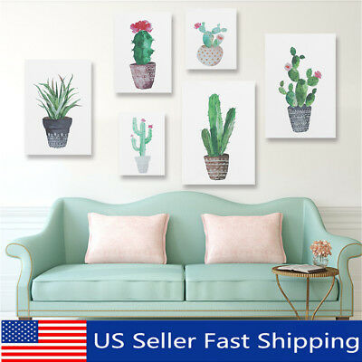 30X40cm Cactus Canvas Painting Print Picture Living Room Home Wall Decor Unframe