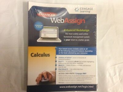 Cengage Calculus Enhanced WebAssign Instant Access Homework - eBook