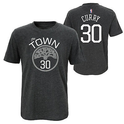 Stephen Curry Golden State Warriors The Town NBA Boys T-Shirt Youth S M L XL