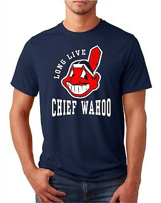 Cleveland Indians Long Live Chief Wahoo Adult T Shirt Small thru XXL - FREE SHIP