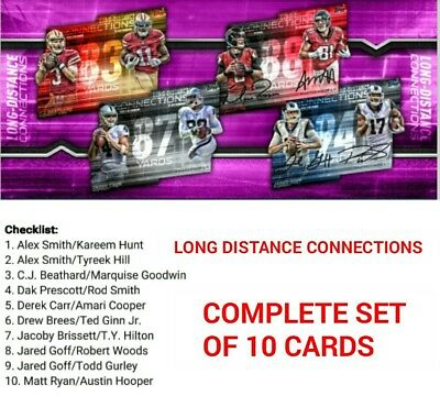 LONG DISTANCE CONNECTIONS BASE COMPLETE SET OF 10 CARDS Topps Huddle Digital