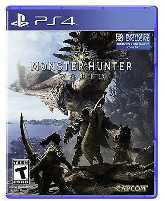 MONSTER HUNTER WORLD  PLAYSTATION 4  BRAND NEW FACTORY SEALED
