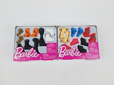 2018 Barbie Fashion Accessory Shoe Pack Tall - Curvy lot of 2