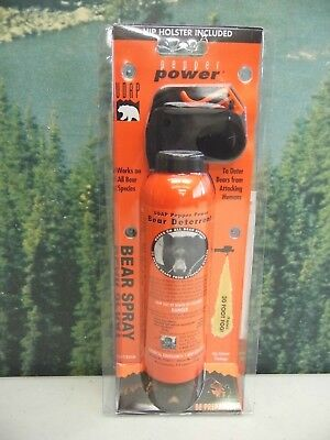 UDAP  Pepper Power Bear Spray  Repellant wHolster  12VHP  New  Ships Free