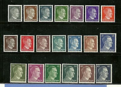 Adolph Hitler  Third Reich  Nazi Germany  20 MNH stamps  FREE HOLDER  WWII