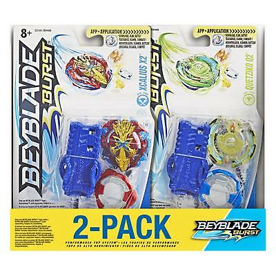 Beyblade Burst 2-Pack Value Starter Pack Quetziko Q2 And Xcalius X2