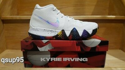 Nike Kyrie 4 March Madness NCAA White Multi New 943806-104 GS Men Size 3Y-13