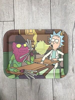 Ceramic Rolling Tray Rick and Morty 13 x 9