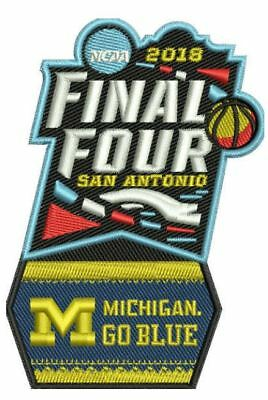2018 WOLVERINES MEN'S FINAL FOUR TEAM PATCH MICHIGAN WOLVERINES MARCH MADNESS