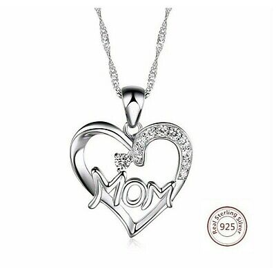 Perfect GIFT for Mothers Day 100 Pure 925 Sterling Silver Pendant Necklace