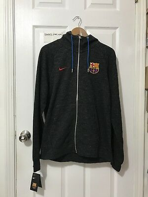 Mens Nike FC Barcelona Full Zip Hoodie Jacket Football Soccer M NWT FCB RARE