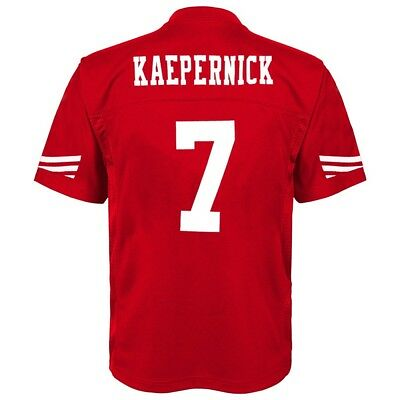 Colin Kaepernick NFL San Francisco 49ers Mid Tier Home Red Jersey Youth S-XL