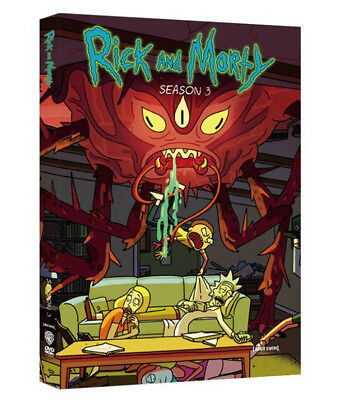 Rick and Morty Season 3 DVD Brand NEW Free SAME DAY SHIP 1-3 DAY MAIL