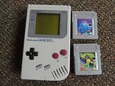 Nintendo Game Boy Launch Edition Gray Handheld System with 2 games