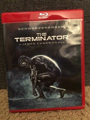 The Terminator Blu-ray Disc 2015 OOP Red Case Arnold Schwarzenegger Art Cards
