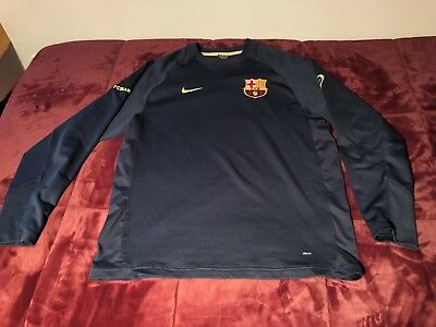 Vintage Nike Mens FC Barcelona Long Sleeve Goalie Soccer Jersey Size Medium M