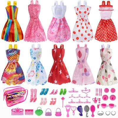 Barbie Doll Clothes Set Include Party Grown Outfits - Dolls Accessories-