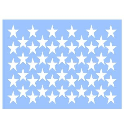 Swirlypop Designs 50 Stars stencil 9x12 independence day 4th of july summer