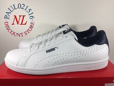 PUMA Mens Sneakers Smash Perf C Shoes  White  Various Sizes Condition