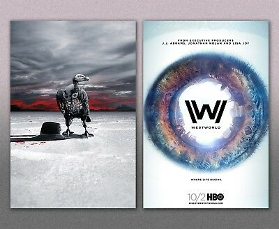 Westworld HBO Poster Set of Two 12x18 Posters 2018 NEW Season 2