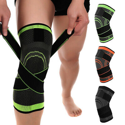 2Knee Sleeve Compression Brace Patella Support Stabilizer Sports Gym Joint Pain