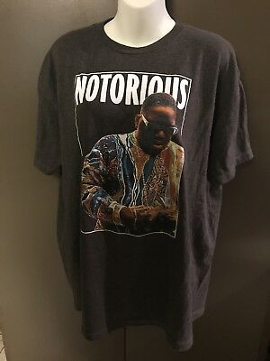 Notorious B-I-G- T-Shirt Biggie Smalls Extra Large XL Heather Gray