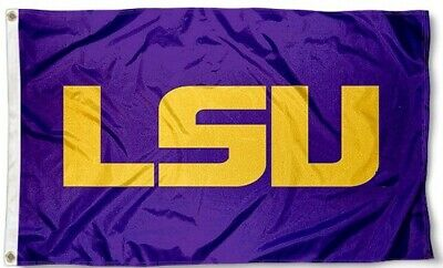 LSU Tigers Flag  Large 3X5  College Banner  FREE SHIPPING