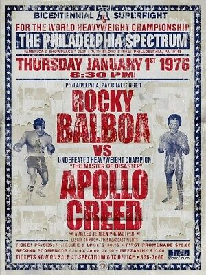 Rocky Balboa VS Apollo Creed Bicentennial Superfight PosterPrint  Stallone
