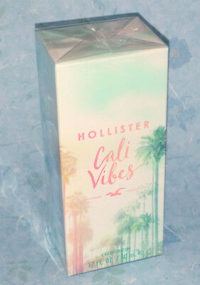 Hollister Co- Womens CALI VIBES Parfum edp Womens Full Size 1-7oz New - SEALED