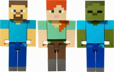 LARGE MINECRAFT ZOMBIE ZUMBI ALEX STEVE SCALE ACTION FIGURE 8-5 toy htf soldout