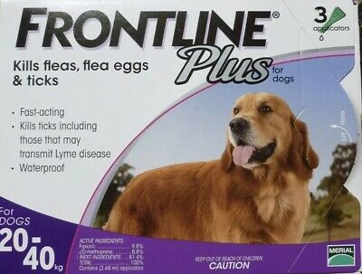 Frontline Plus for Medium DOGS 23-44lbs 3 Month Supply By Merial  NewSealed