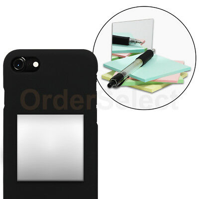 Selfie Small Mirror Square 2 Anti-Scratch for Apple iPhone Android Cell Phone