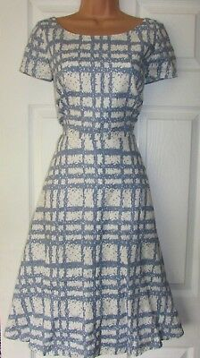 HOBBS Wessex Check Dress As Worn By Kate Middleton Size 12 BRAND NEW