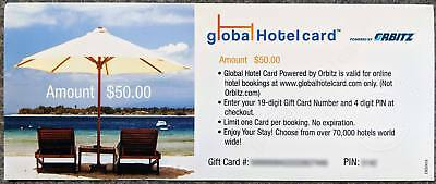 Global Hotel Card - 50 Gift Card - Powered by Expedia Affiliate Network