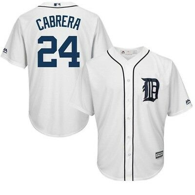 Detroit Tigers MLB Mens Cool Base Miguel Cabrera White Jersey Big - Tall Sizes