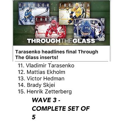 2018 THROUGH THE GLASS WAVE 3 COMPLETE SET OF 5 Topps NHL Skate Digital Card