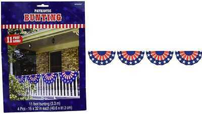 Stars - Stripes Fourth Of July Party Bunting Banner Decoration 1 PC Multi Col