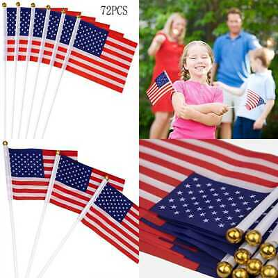Fourth4Th Of July American Stick Flags Patriotic Party Decorations Supplies Fav