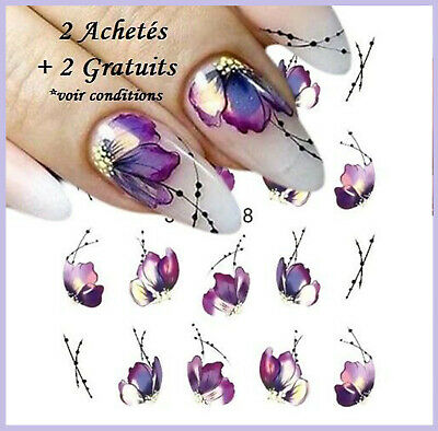❤️NOUVEAU 20 STICKERS FLEURS BIJOUX ONGLES WATER DECALS STICKERS NAIL ART 21ae6547790c