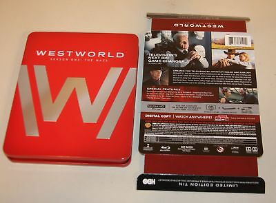Westworld First Season One The Maze 4K Ultra HD Blu-Ray Ltd Ed Tin 883929601912