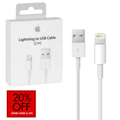 New OEM Original Apple iPhone 7 6S Plus 5 SE Lightning USB Cable Charger 2M6FT