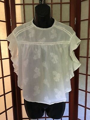 Zara Trafaluc Ivory Cropped Sleeveless Top Size XS