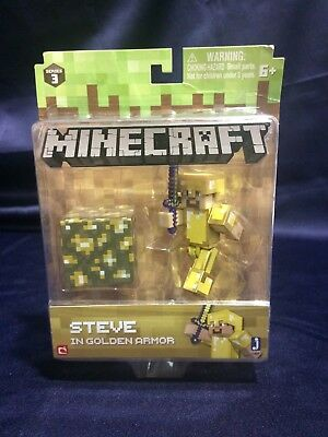 Minecraft Series 3 Steve in Golden Armor Action Figure