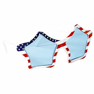 American Summer Fourth Of July Patriotic Star Shaped Glasses Accessory Plastic 6