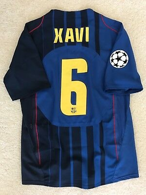 Xavi 2004-05 Nike FC Barcelona away match un worn issue shirt CL