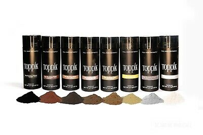 Toppik Hair Building Fibers - Black  Dark Brown  Medium Brown  Light Brown
