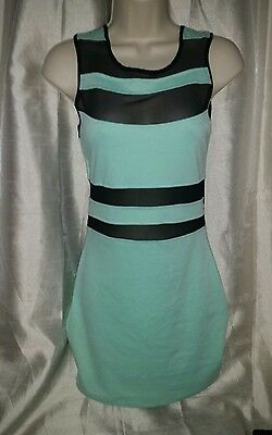 Wet Seal Womens teal mesh Slim Dress Size smallNEW WITH TAGS