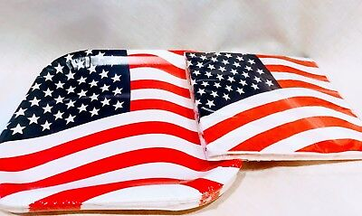 4th of July Tableware Plates 28 count American Flag Patriotic Design