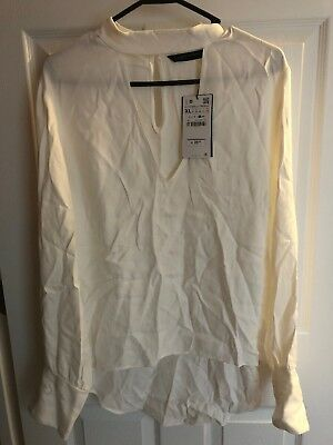 Zara Woman White Blouse XL